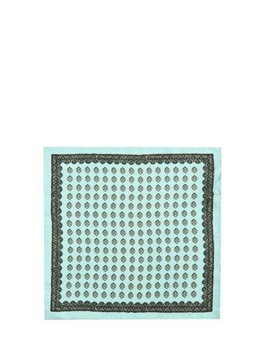 Eton Eton  Geometrik Desenli İpek Poşet Mendil 101612268 Renkli